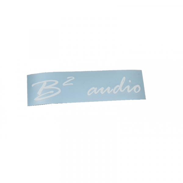 B² Audio Sticker 15 x 3 cm
