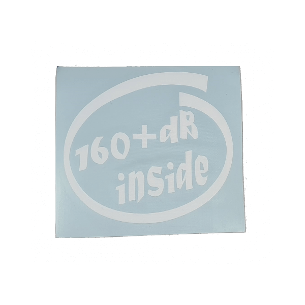 dB+ inside Sticker 10 x 9 cm